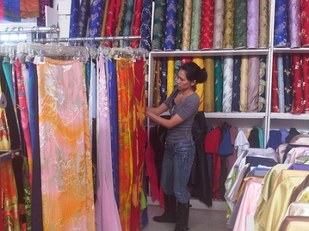 shopping for ao dai (vietnamese dress)