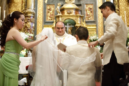 filipino catholic wedding veil sponsors