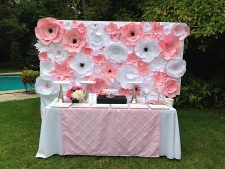 Paper Flower Wall Panel In The Clouds Events Los Angeles Wedding Planner Consultant Designer