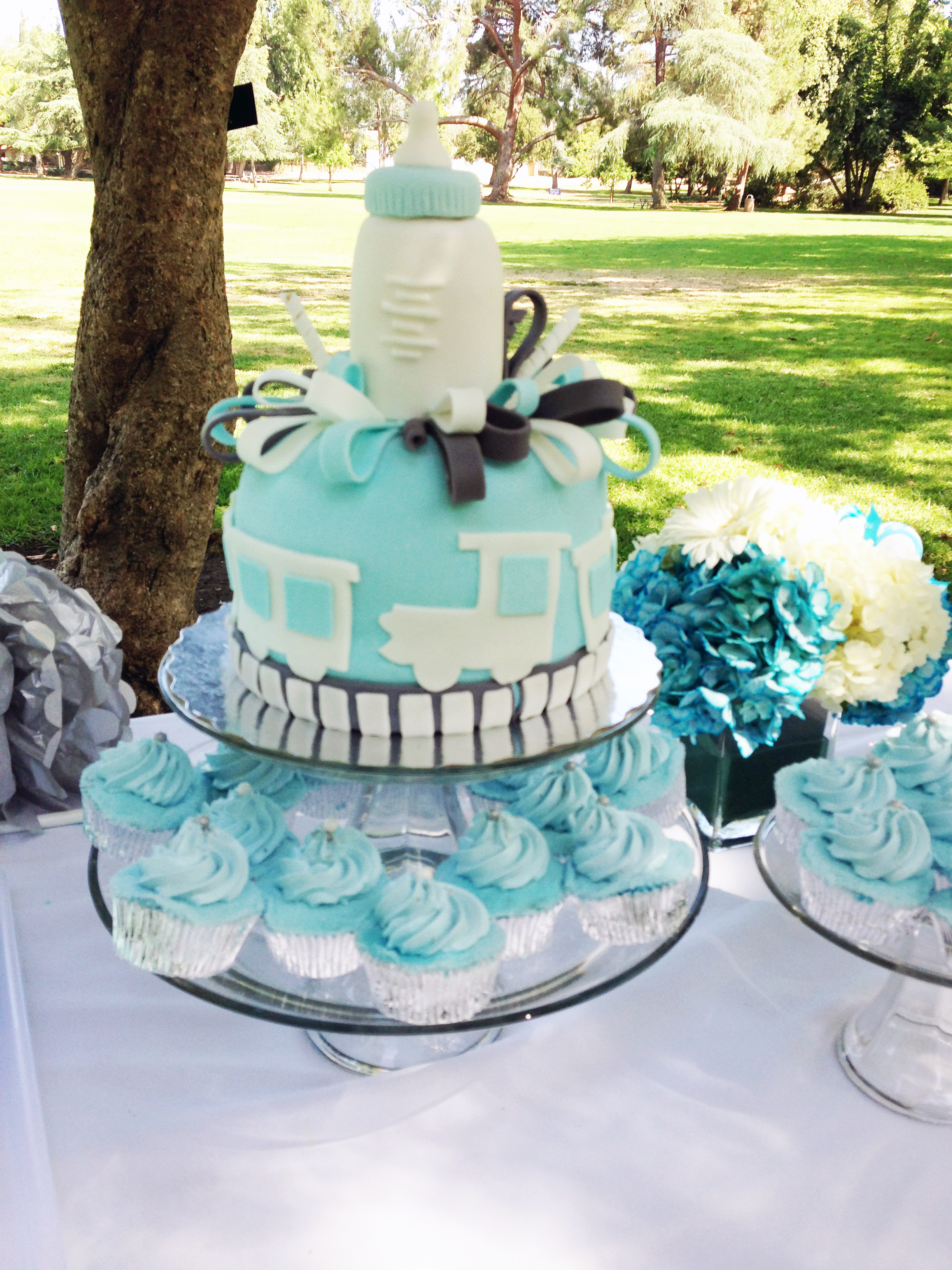 susie josé s blue train baby shower in the clouds events